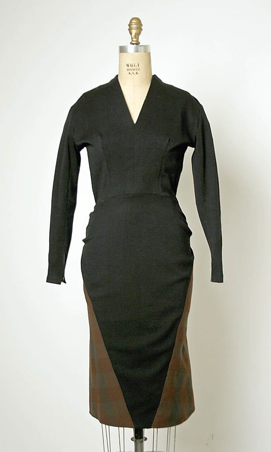 Dress  House of Balmain  (French, founded 1945)  Designer: Pierre Balmain (French, St. Jean de Maurienne 1914–1982 Paris) Date: 19531950S, Balmain Dresses, Balmain French, Dresses House, Beautiful Dresses, Dresses C A, 1953 Balmain, Black Lace Dresses, Balmain Beautiful