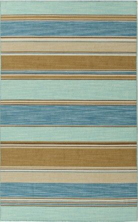 Jaipur Coastal Living Dhurries Captiva Cc06 Aqua Sky / Aqua Sky Area Rug