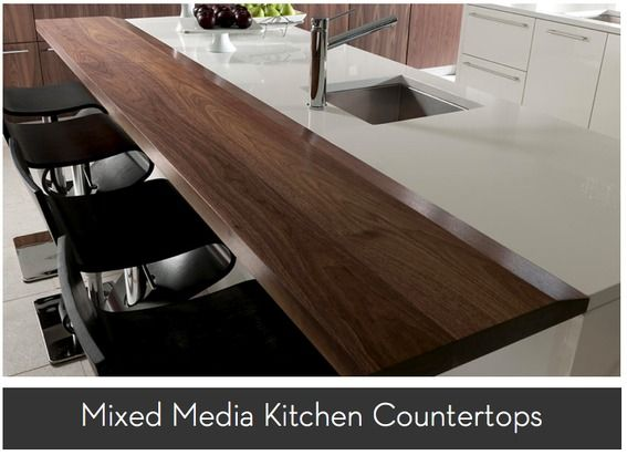Combine Different Worktops In Kitchen