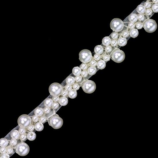 PEARL BEADED TRIM - Beaded Trims - Trims & Chains