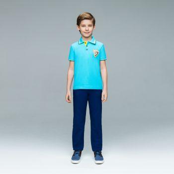 Поло с коротким рукавом для мальчика, цвет бирюзовый