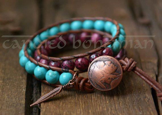 SALE! American Indian armband, Native American, natuursteen, Boho stijl…