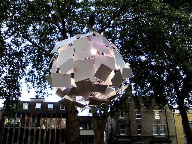 Exploded Globe installation, Hoxton square, London by Craig Grobler, via Flickr