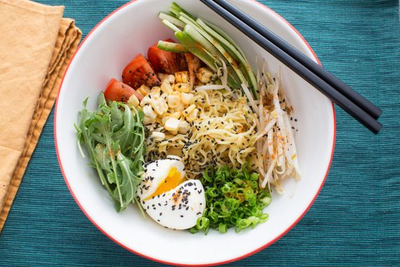 Summer Vegetable Hiyashi Chuka with Fresh Ramen Noodles & Soft-Boiled Eggs. Visit http://www.blueapron.com/ to receive the ingredients.