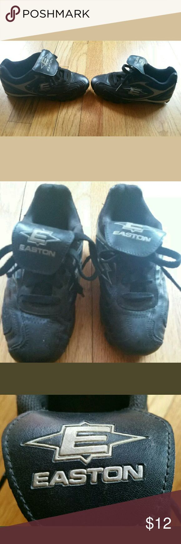 SUMMER SALE  EASTON CLEATS YOUTH SIZE 2.5 EASTON Youth Cleats Size 2.5 Baseball/ Softball Black,very good pre-owned condition,smoke-free home EASTON  Shoes