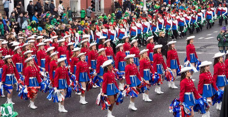 KILGORE COLLEGE RANGERETTES |  - St. Patrick's Parade in Dublin March 17 2015