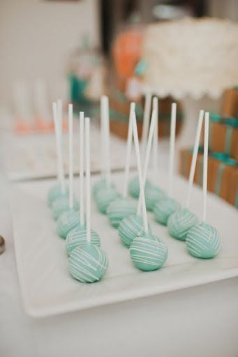 Blue Cake Pops w/ red velvet center