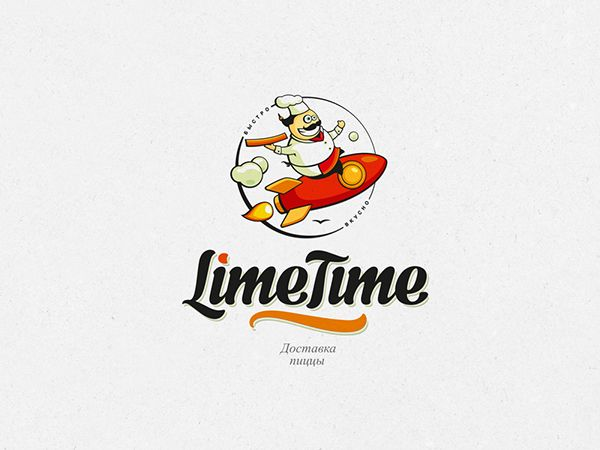Limetime на Behance logo and corporate identity elements «Limetime» pizza delivery