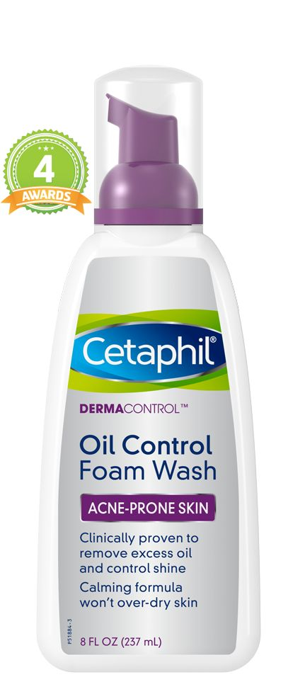 Cetaphil DermaControl™ Oil-Control Foam Wash is clinically proven to  effectively remove oil, impurities and makeup from oily or acne-prone skin. Try it today!