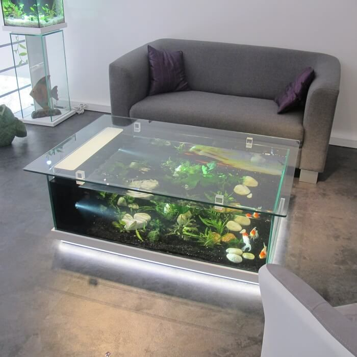 Top 40 Amazing Aquarium Coffee Table Design Ideas Engineering Discoveries Aquarium Coffee Table Fish Tank Coffee Table Coffee Table Design Living room table fish tank