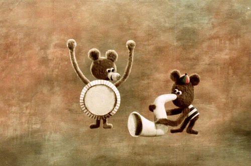 "Bretislav Pojar, ""Potkali se u Kolina"", ""Hey mister, let's play!"" Czechoslovak animated series created by Bretislav Pojar."