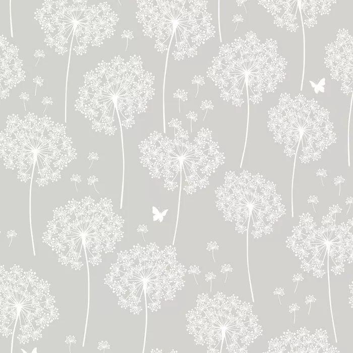 Nuwallpaper Dandelion Peel Stick Wallpaper Gray In 2021 Dandelion Wallpaper Vinyl Wallpaper Grey Wallpaper