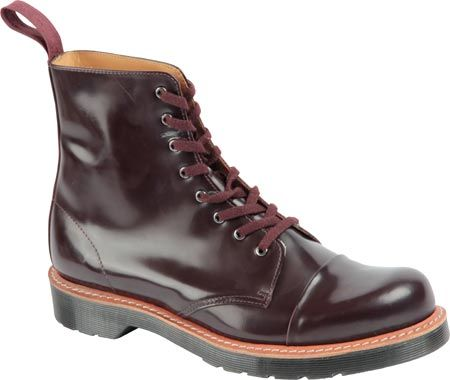 Dr. Martens Charlton 8-Eye Toe Cap Boot - Oxblood Polished Smooth with FREE Shipping & Returns. Superficially the Charlton is a classic office silhouette, yet features a steel toe cap. Set on a