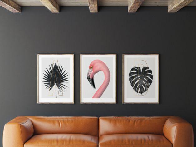 Originaldruck - Kunstdruck Poster / ABC Plants - A - ein Designerstück von typealive bei DaWanda