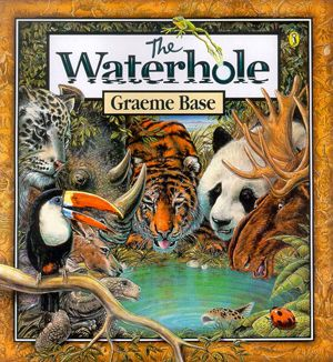 The Water Hole  is probably the shortest of all of Graeme Base's books (or at least the shortest of all of the books that I own), but there ...
