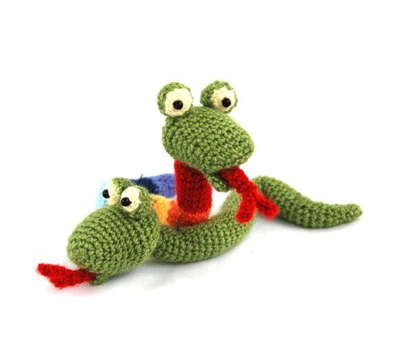 $21.36 #amigurumi #SNAKE #doll, #crochet #snake #toy, #stuffed #animal #doll, #woodland #plushie, #forest #green #toy, #great #little #doll, #stocking #stuffed #doll