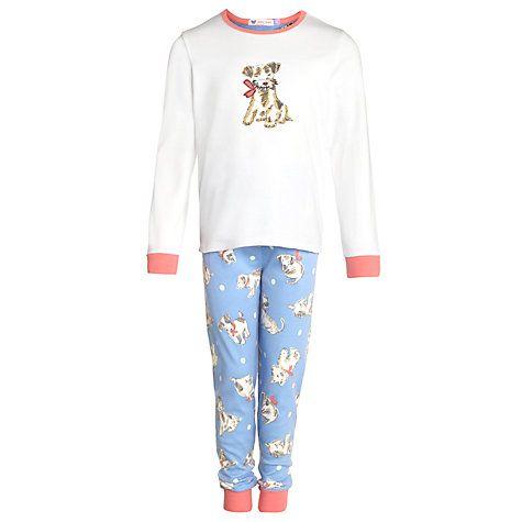 Buy John Lewis Girl Puppy Print Long Sleeve Pyjamas, Multi Online at johnlewis.com