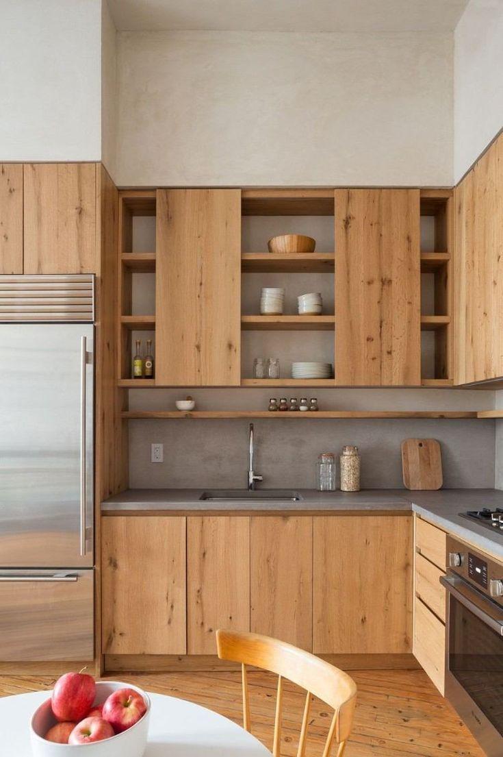 Credence Beton Cire Cuisine Avantages Inconvenients Et Idees En Images Julie Ellivuen Aktuelle Ideen Modern Kitchen Cabinet Design Kitchen Design Kitchen Interior