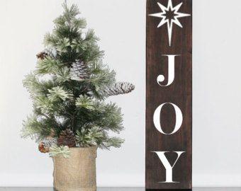 Spectacular Freude Holz Schild rustikale Weihnachts Dekoration Wanddekoration Holz Christmas Sign