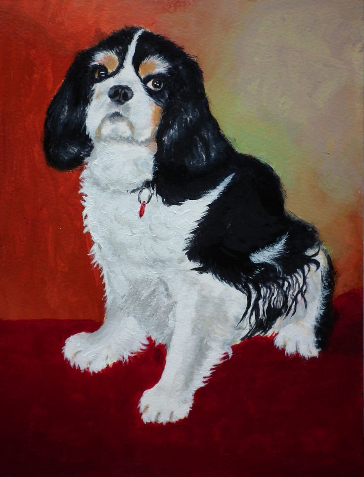 'CHARLIE' - (acrylic on paper) by Gorica Bulcock. Sold.