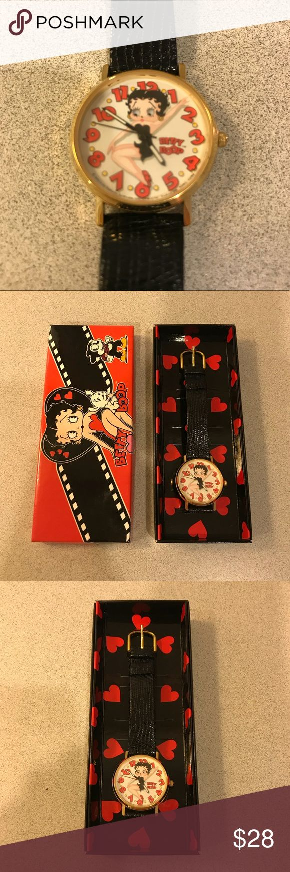 Vintage Betty Boop Watch - 1994 This is a great Betty Boop collectible watch from 1994. The watch and band are both in great condition; just needs a new battery. Enjoy❤️ Accessories Watches
