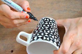 mama van vijf: DIY koffietassen