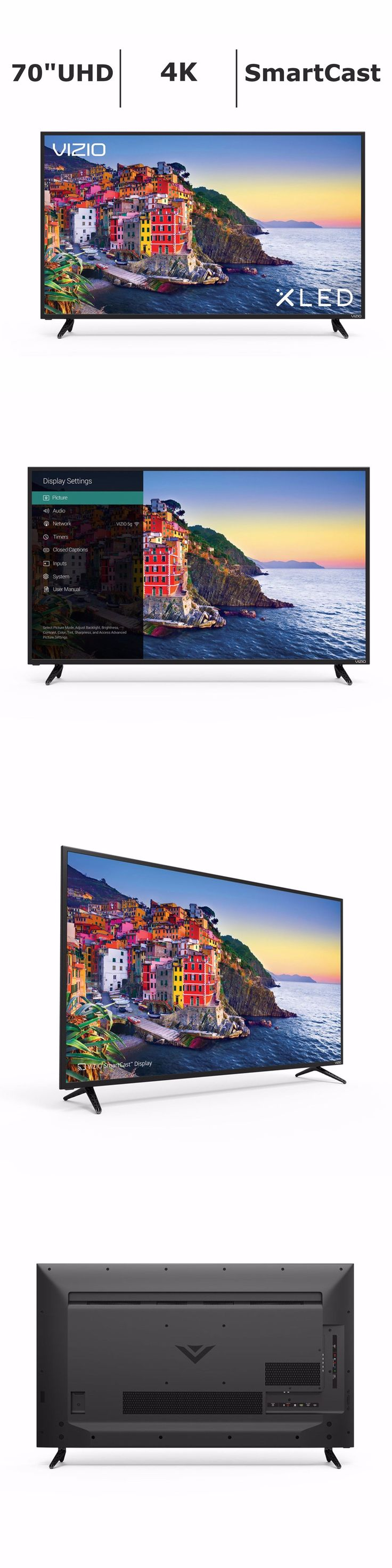Televisions: Vizio 70 Inch Smartcast 4K Uhd Hdr Xled 120Hz Display W 4 Hdmi E70-E3 - New -> BUY IT NOW ONLY: $1379.07 on eBay!