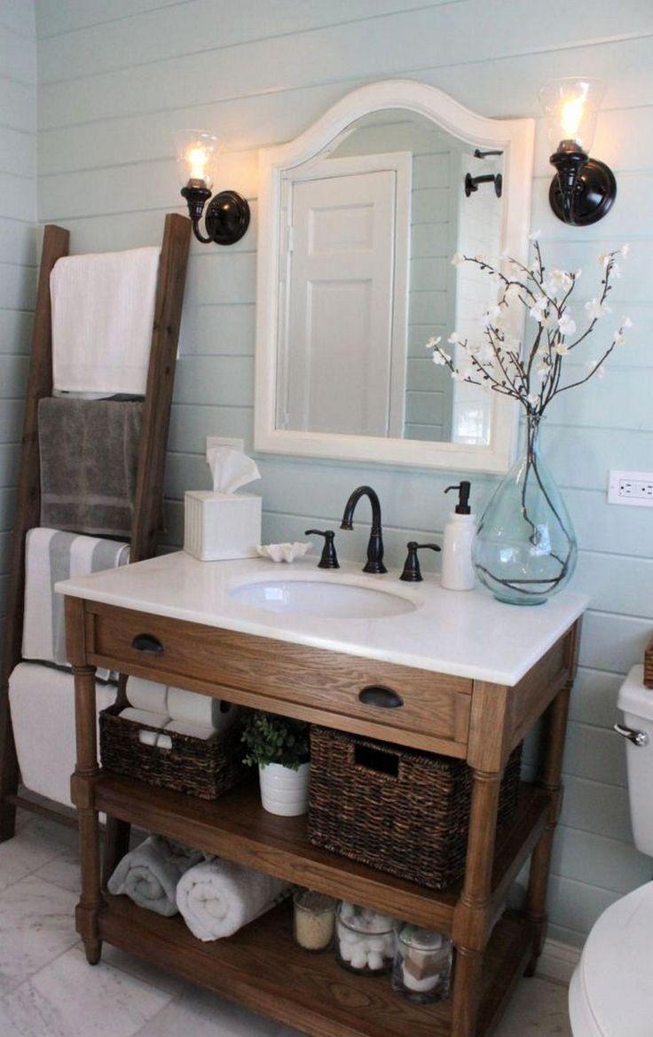 Farmhouse Bathroom Decor, Lake Cabin Bathroom Decorating Ideas