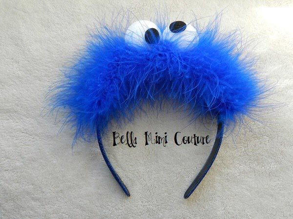 Sesame Street Cookie Monster Headband by BellaMimiCouture on Etsy https://www.etsy.com/listing/474196718/sesame-street-cookie-monster-headband