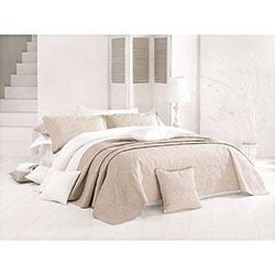 İssimo Home Aldora Çift Kişilik Yatak Örtüsü Takımı - Bej