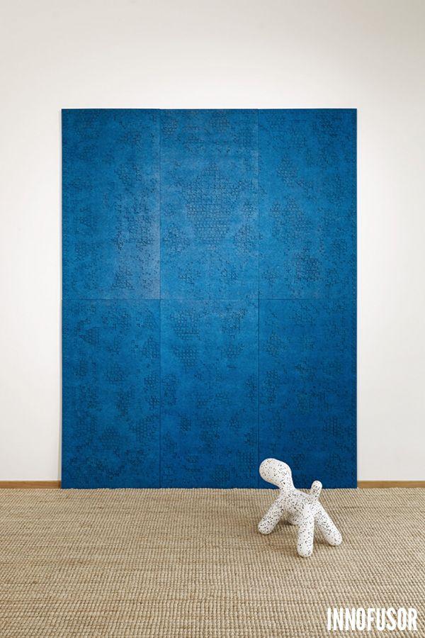 Gran Ru Pori acoustic wall panels in bright blue color. See more at www.granru.com #Scandinavian #Design #Innofusor #acoustics