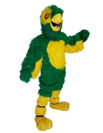 Luxe mascottes groene papegaai  Luxe mascotte groene papegaai. Een gave luxe groene papegaai met een geel buikje pootjes staartje snavel en armpjes. Deze luxe mascotte papegaai is voorzien van een luchtcirculatiesysteem. Voor meer luxe mascottes kunt u ook terecht in deze shop.  EUR 1195.00  Meer informatie
