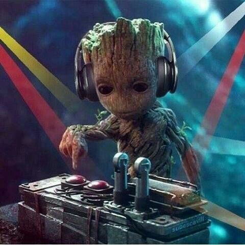 DJ baby groot  Baby Groot is about to drop the beat
