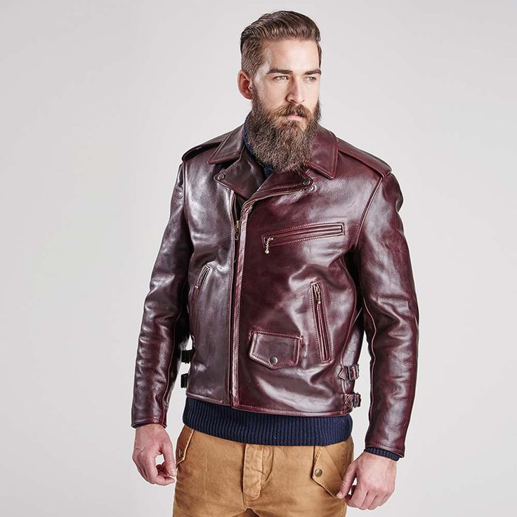 Part of the Barbour International x Triumph collaboration, the Phradeo  Leather Jacket is a vintage