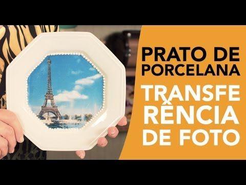 Prato de Porcelana com Transferência - YouTube