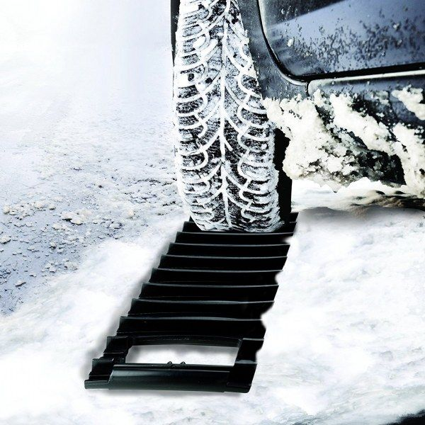 Ice Scraper and Traction Mat in one.