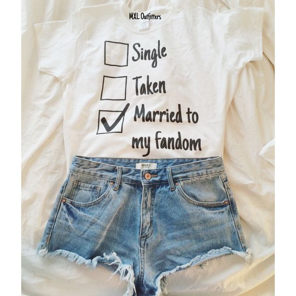 Married to My Fandom T-Shirt ($20) ❤ liked on Polyvore featuring tops, t-shirts, grey, women's clothing, cotton t shirt, grey tee, gray shirt, tee-shirt and grey t shirt