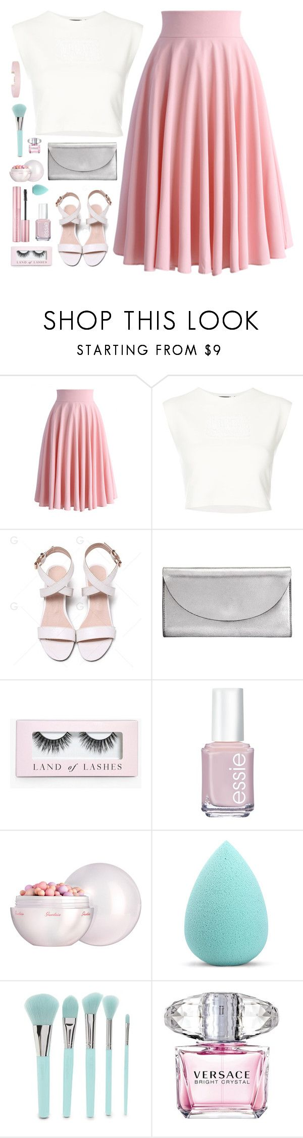 """""""Here we go"""" by cocochaneljr ❤ liked on Polyvore featuring Chicwish, Puma, Kin by John Lewis, Boohoo, Guerlain, My Makeup Brush Set, Forever 21, Versace and Humble Chic"""