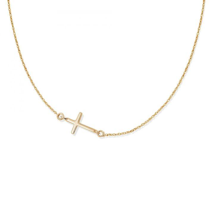 Naszyjnik z pozłacanym krzyżem na łańcuszku - Naszyjniki - Biżuteria - Sklep internetowy Lilou