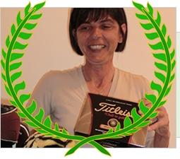 """Lidia Diotallevi  168 punti Stableford  1° Class. WebGolf Contest 2012  Gennaio – Febbraio 2012  Golf Club Le Fonti  22,7 (HCP alla vittoria)    """"Perchè mi piace WebGolf?  Perchè si vincono delle palline!""""  Lidia"""