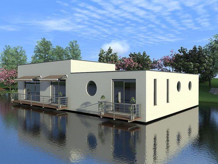 floating house artist impression