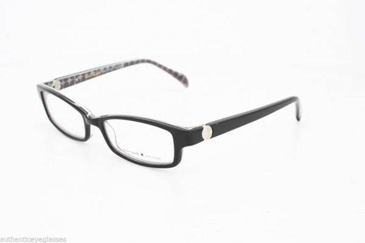 Kate Spade Elisabeth Eyeglasses Frames : Kate Spade Elisabeth 0JDH Womens Eyeglasses Black Grey ...
