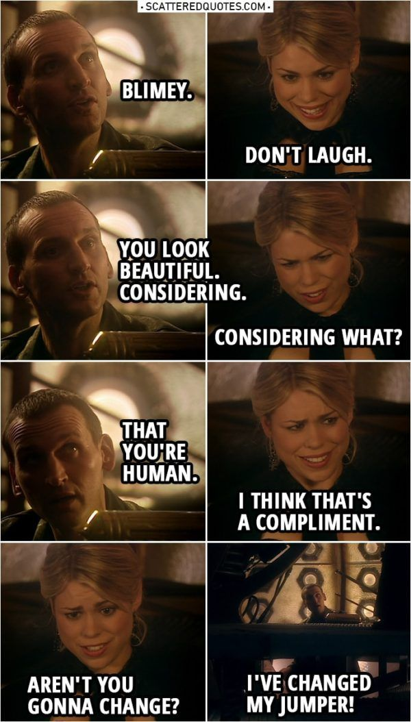 You Look Beautiful Considering Scattered Quotes Doctor Who Quotes Doctor Who Funny Doctor Who Meme