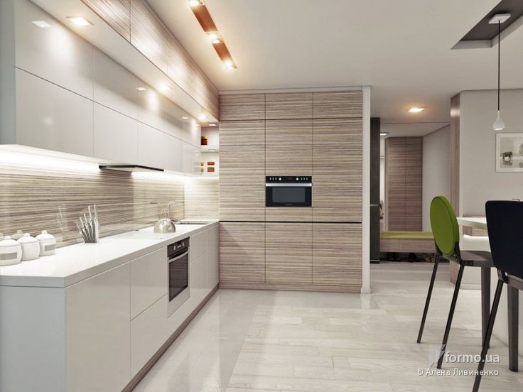 Kitchen wood and white. The wooden part is lovely composed