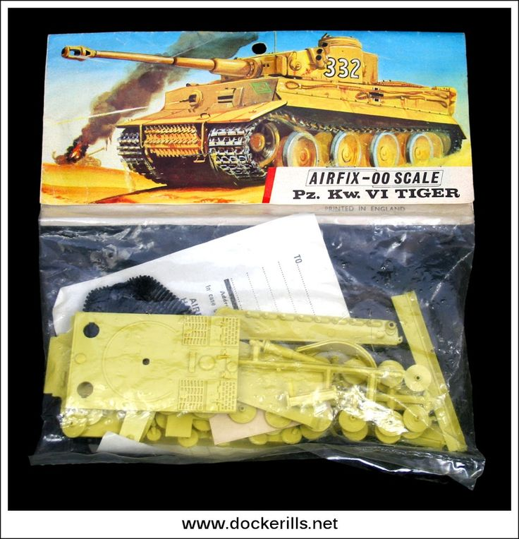 Tiger Tank - Vintage Airfix Red Stripe Bag Kit. Photo in DOCKERILLS - VINTAGE AIRFIX REFERENCE - Google Photos