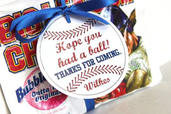 Baseball party tags PRINTABLE FILE, vintage baseball, baseball birthday party, baseball favor tag, baseball party favor, embellishment