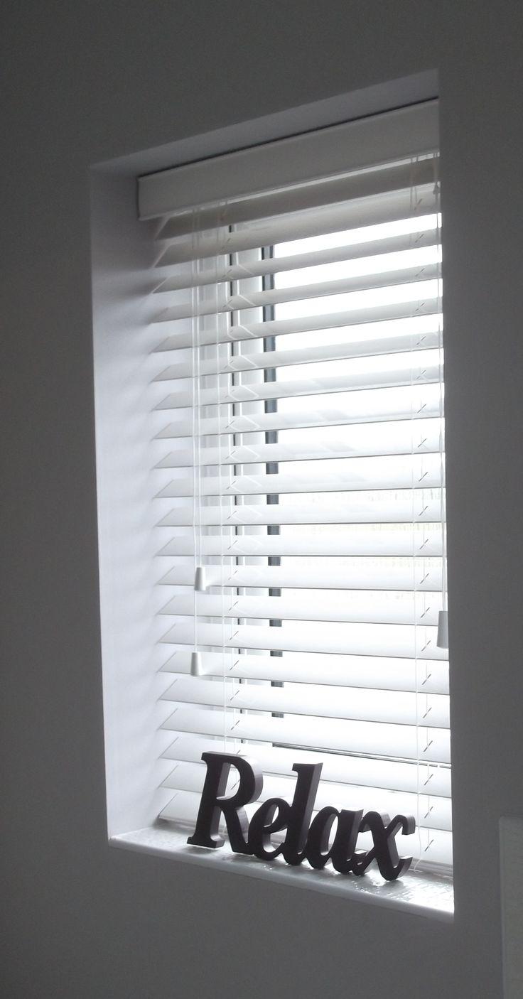 Best 25 white wood blinds ideas on pinterest for White shades for windows