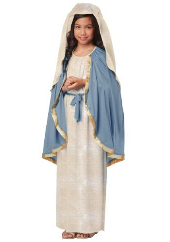 Our Girls Virgin Mary Costume is perfect for the Christmas program at church! It can be worked into other religious holidays as well.
