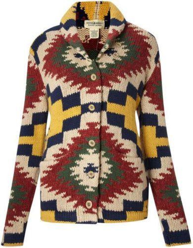 Ralph-Lauren-Denim-Supply-Women-Southwester-Navajo-Indian-Aztec-Sweater-Cardigan