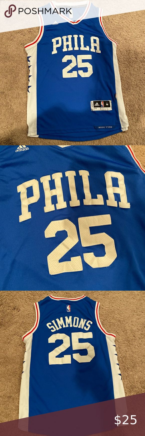 Check out this listing I just found on Poshmark: Philadelphia 76ers Ben Simmons Jersey. #shopmycloset #poshmark #shopping #style #pinitforlater #adidas #Other